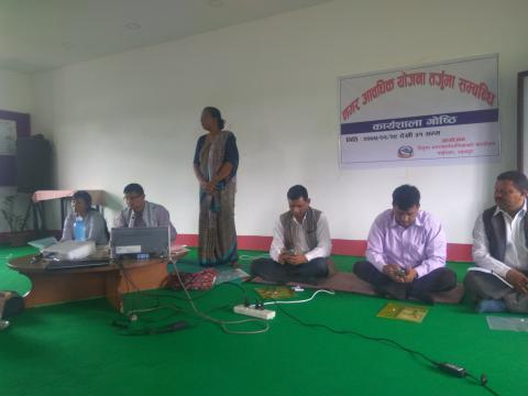 कार्यक्रम को सुभारम्भ गर्दै उप प्रमुख श्री देबी कुमारी चौधरी